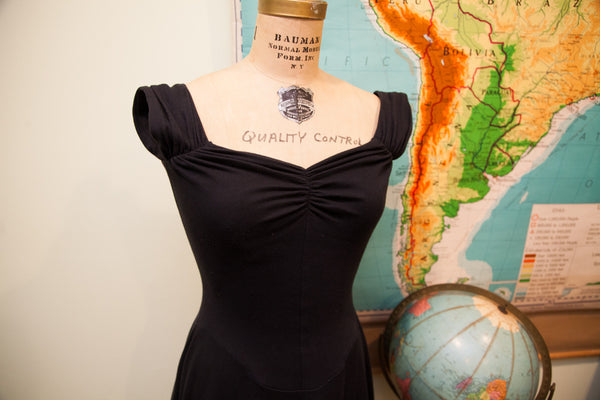 Vintage 80s Punk Label Betsey Johnson Black Dress // Size 6 - 8 - Old New House