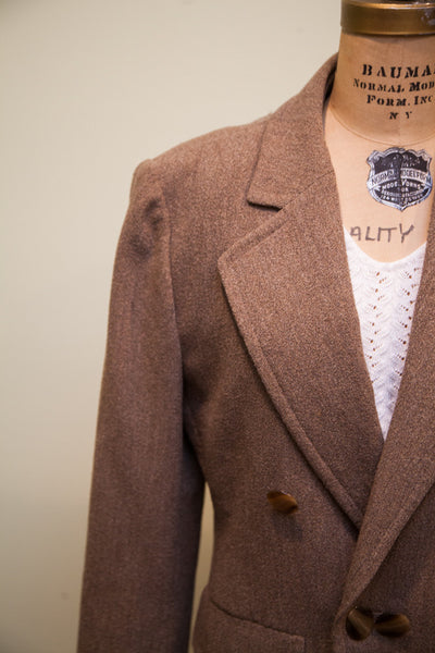 Vintage Guy Laroche Wool Blazer // Womens Suit Jacket // Size L - XL