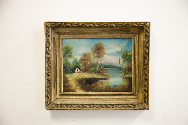 Cottage on the Lake Oil Painting - Old New House
