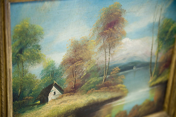 Cottage On The Lake Oil Painting