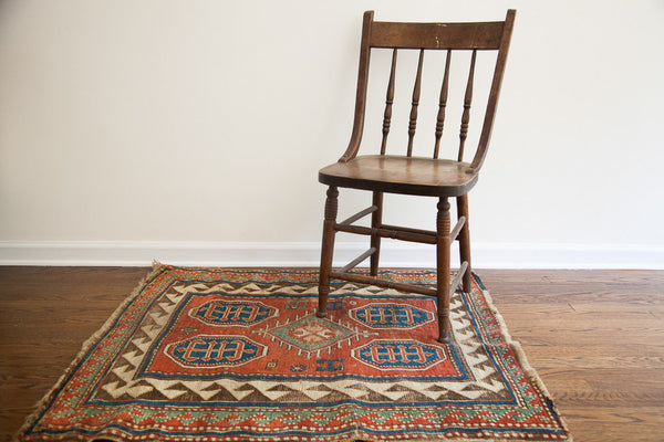 3x4 Square Tribal Rug - Old New House
