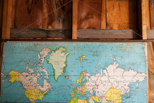 Pulldown World Map Vitographic