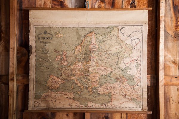 Antique Europe Canvas Wall Map