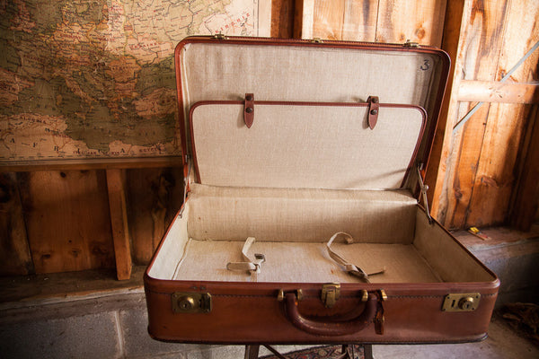 Crouch Fitzgerald Leather Suitcase - Old New House