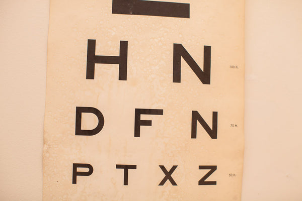 Antique Eye Chart