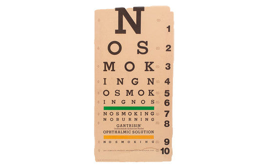 Vintage '80s Eye Chart - Old New House