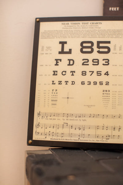 Antique Eye Exam Plaque