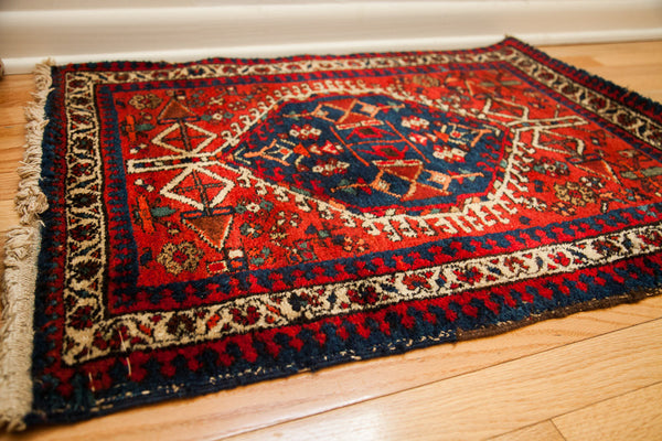 2x3 Bold Red Accent Rug - Old New House