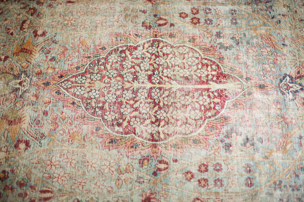 Worn Kerman Area Rug