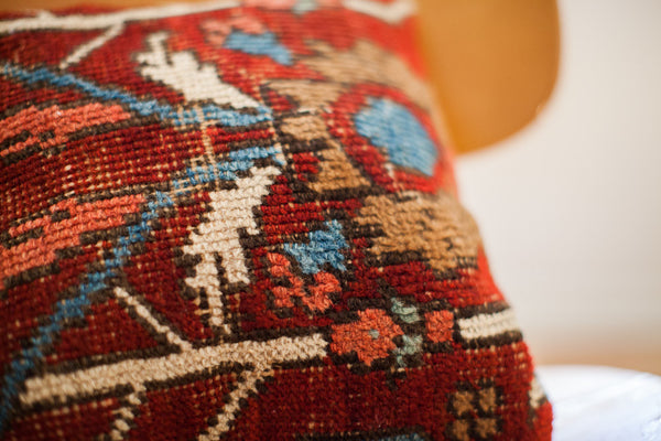 Set of 7 Custom Hand Made Rug Pillows - Old New House