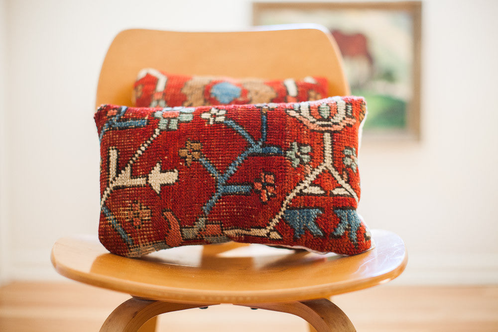 Small Persian Rug Pillow - Old New House