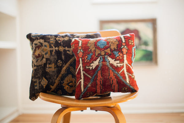 Antique Turkish Rug Pillow Old New House Old New House