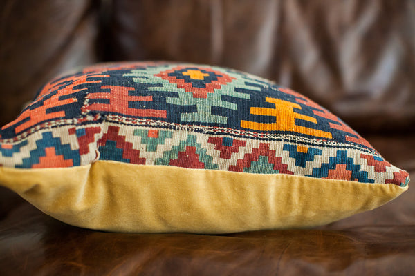 Large Antique Kilim Pillow - Old New House