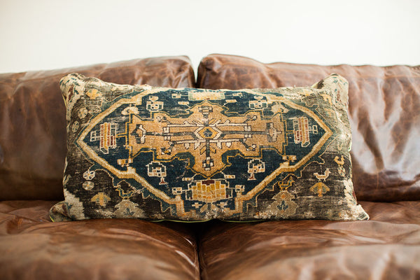 Oversize Turkish Rug Pillow - Old New House