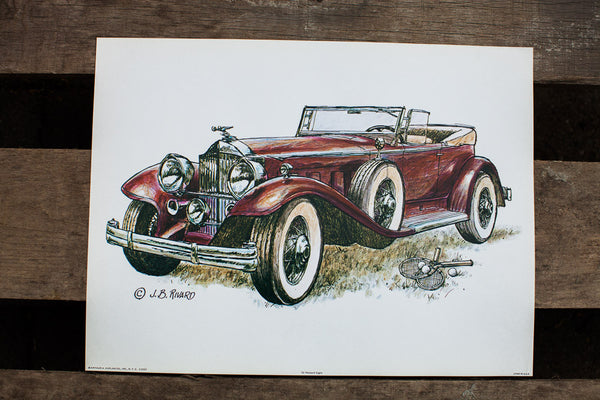 Antique Car Wall Art - Old New House