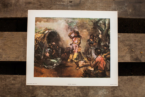 Gypsy Dancer Spanish Lithograph - Old New House