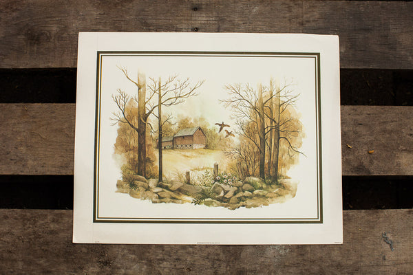 1979 Massa Landscape Lithograph - Old New House