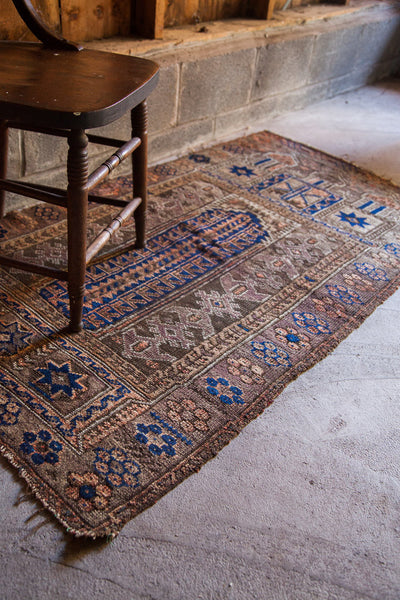 3x6 Nutty Brown Prayer Rug Runner - Old New House