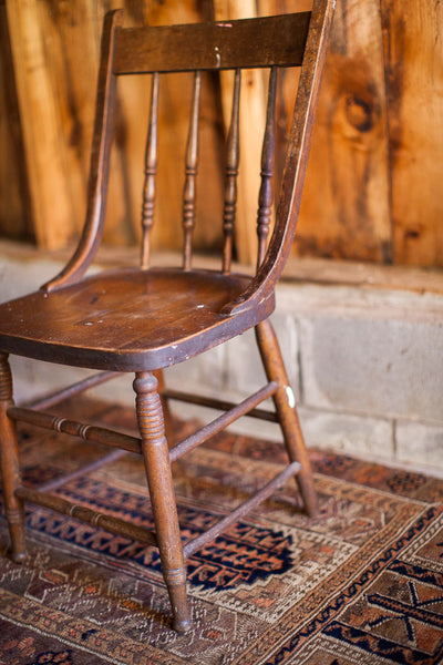 Antique Wooden Oak Chair - Old New House