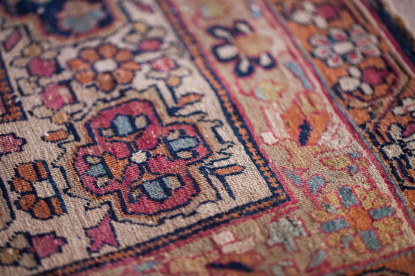 Antique Floral Kerman Rug