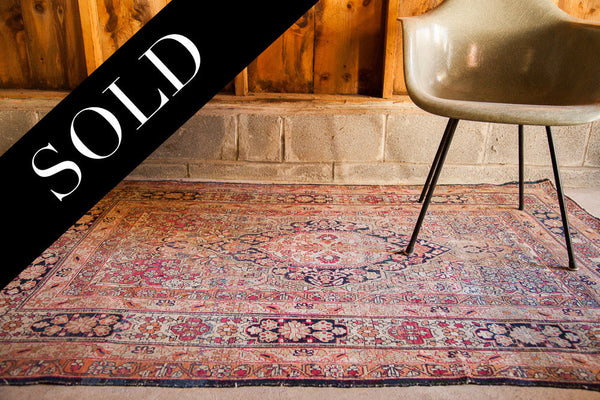 4x6 Antique Floral Kerman Rug