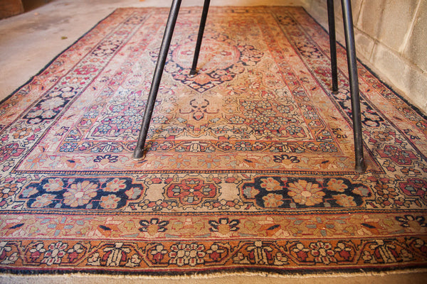 4x6 Antique Floral Kerman Rug - Old New House