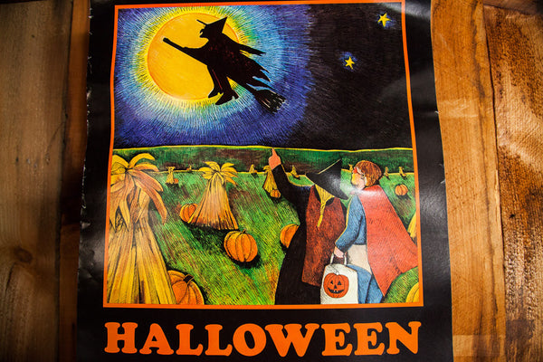 Vintage Halloween Book Poster - Old New House