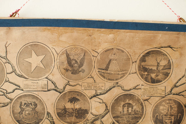 Rare Ensign and Thayer Pre-Civil War Tree of Liberty Chart