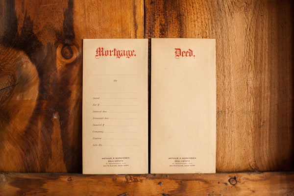 Antique House Deed Envelope - Old New House