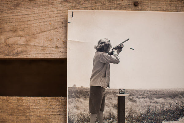 Vintage Carole Lombard Shooting Range Photograph - Old New House
