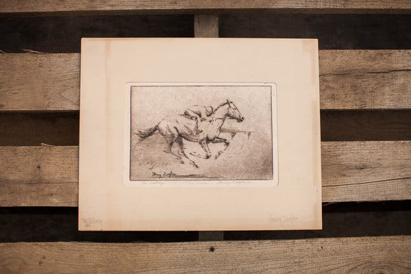 Signed Ziegler Horse Drawing
