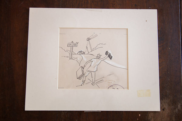 Don Freeman Hitchhiker Drawing - Old New House