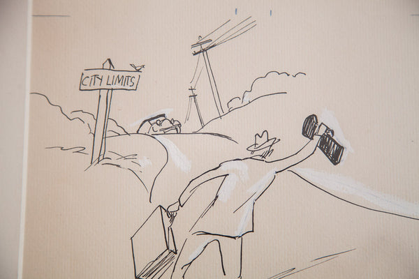 Don Freeman Hitchhiker Drawing