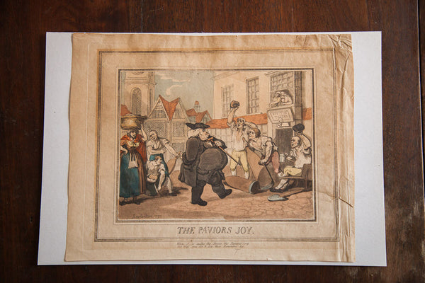 18th Century Rowlandson Etching - Old New House