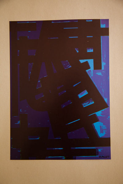 Mid Century Signed Edgard Pillet Colour Offset Collection