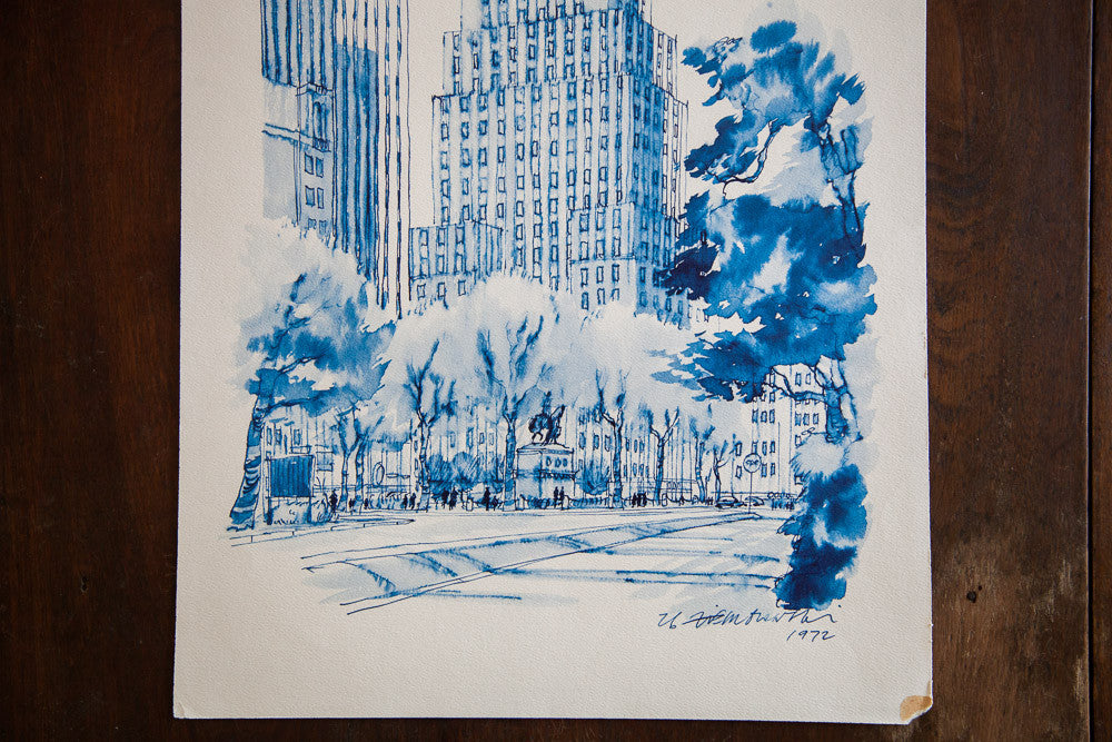 Blue Minimalistic Grand Army Plaza NYC - Old New House