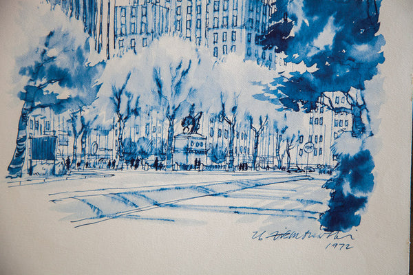 Blue Minimalistic Grand Army Plaza Nyc