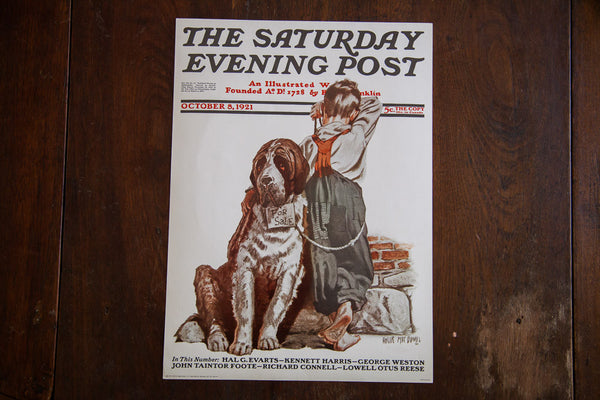 The Saturday Evening Post October 8 1921 Lithograph