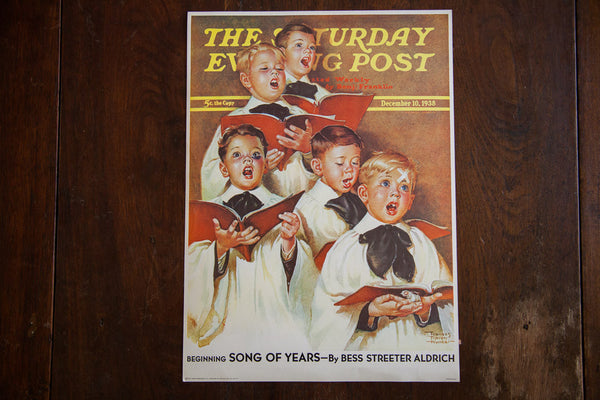 The Saturday Evening Post December 10 1938 Lithograph - Old New House