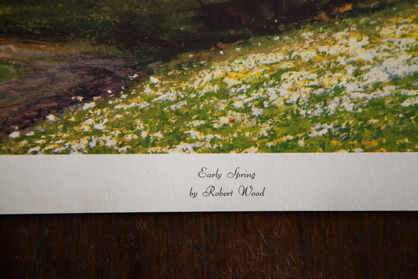 Early Spring By Robert Wood Lithograph