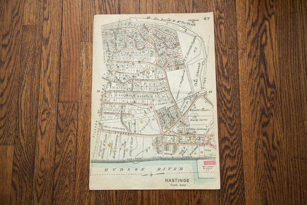 Hastings New York Map Print - Old New House