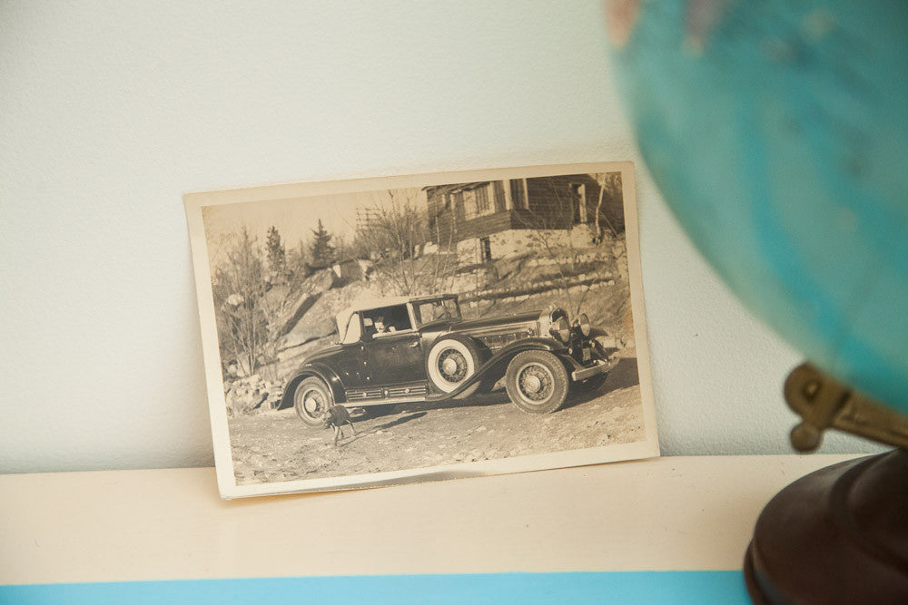 Cool Antique Car Photograph - Old New House