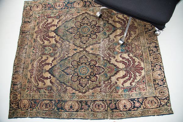 4x5 Antique Square Kerman Rug - Old New House