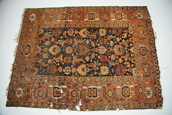Rust and Brown Antique rug