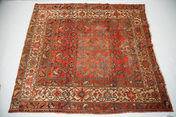 5x6 Vintage Hamadan Square Rug - Old New House