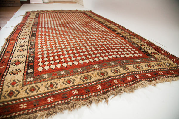 4x7 Antique Armenian Harlequin Rug - Old New House