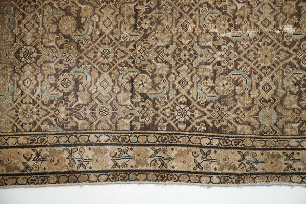 4x7 Blanched Charcoal Antique Hamadan Design Rug - Old New House