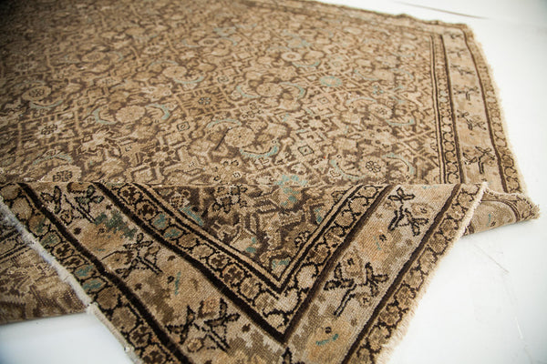4X7 Blanched Charcoal Antique Hamadan Rug