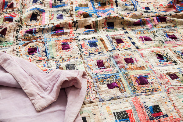 Vintage Colorful Cross Quilt - Old New House