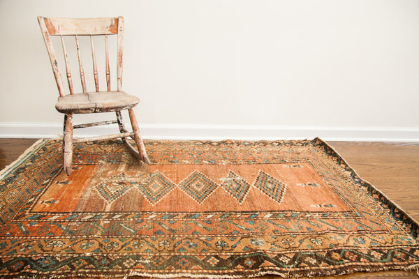4x5 Antique Northwest Persian Rug - Old New House